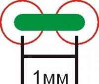 схема образования стежка в 1мм