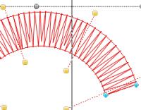 классический угол наклона стежков к контуру объекта