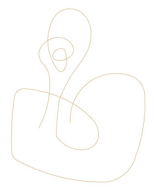 кривая для примера вариативной длины стежка