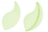 деление объекта на части с разными углами наклона стежков для придания объема