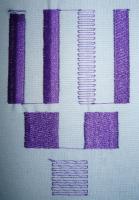 формы краев вышитых объектов, получившиеся в результате вышивки