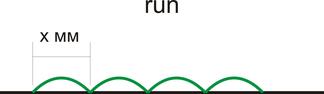 длина стежка простой строчки run