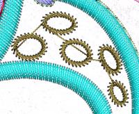 Перетяжки между объектами в машинной вышивке