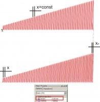 динамически изменяемая плотность в сатине в зависимости от длины стежка