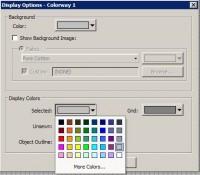 настройка цвета выделенного объекта  truesizer 2.0