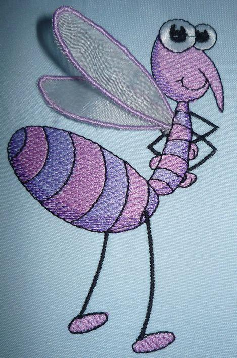 отлетная (3d) аппликация машинная вышивка