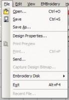 меню file truesizer 2.0