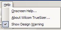 меню help  truesizer 2.0