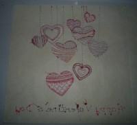 вышивка открытки на бумаге шаг 06