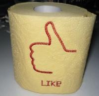готовое изделие - вышитая туалетная бумага