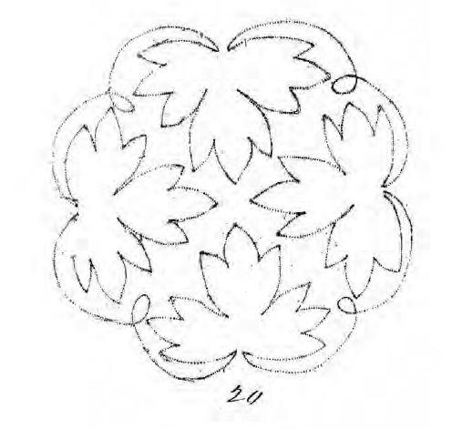исходный рисунок для машинной вышивки шнуром