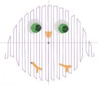 превью программы для вышивки шнуром цыпленка
