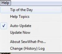 SewWhat-Pro меню help