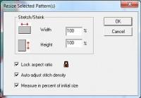 SewWhat-Pro изменение размера
