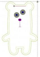 превью дизайна машинной вышивки для набивного медведя