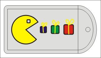 исходный дизайн для вышитой бирки на подарок
