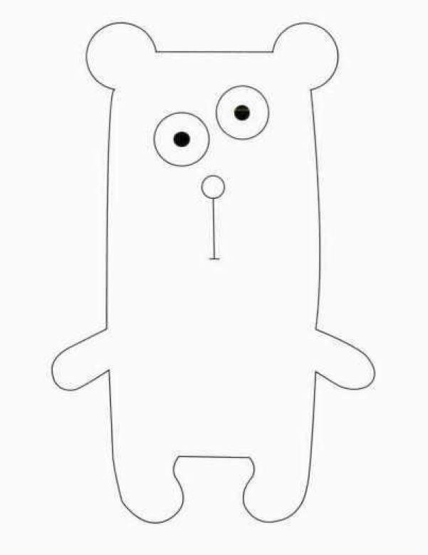 рисунок-выкройка для набивного медведя