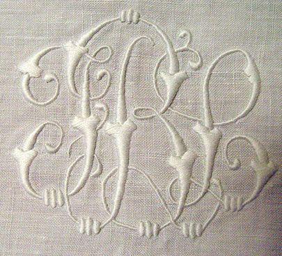 Монограмма для машинной вышивки