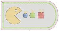 превью дизайна машинной вышивки бирки на подарок