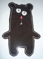 медведь-игрушка на вышивальной машине 07-1