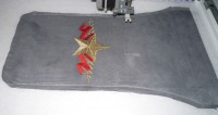 машинная вышивка подарочного мешка для бутылки шаг 09