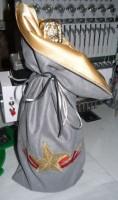 машинная вышивка подарочного мешка для бутылки шаг 17