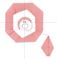 превью дизайна машиной вышивки для шерстяной нитки сатином с повторяющимся стежком
