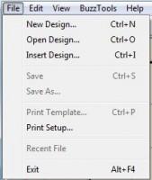 buzzword меню file