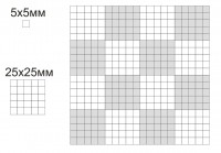 сетка для определения площади вышитых стежков