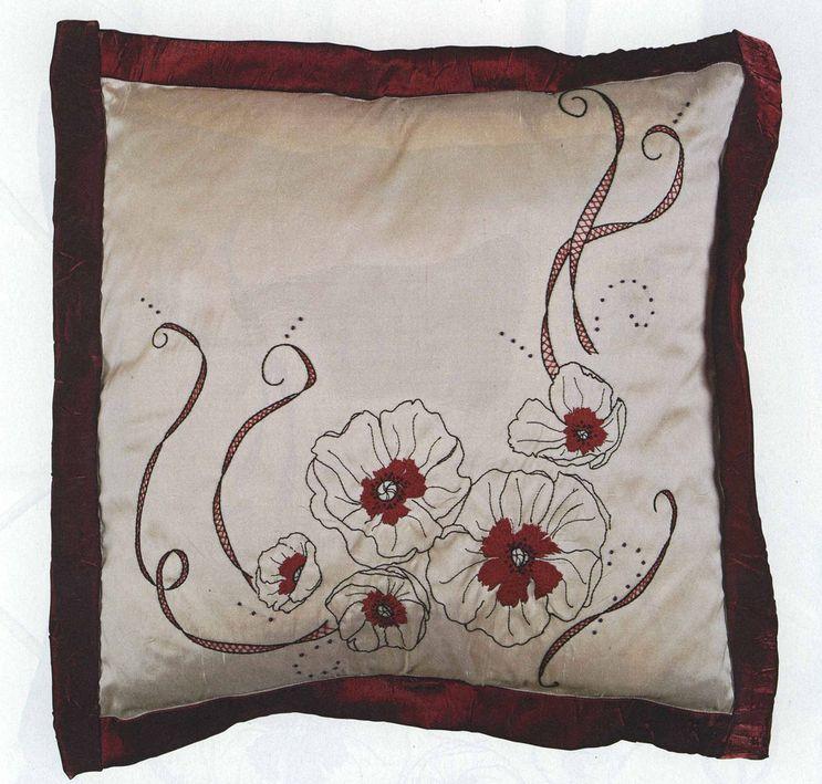подушка с ручной вышивки для вдохновения