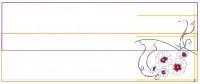 разметочные линии для стыковки дизайна машинной вышивки