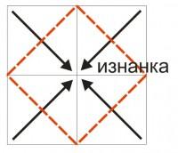 вышитая коробка оригами шаг 05-1