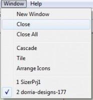 melco sizer меню window