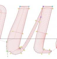 модификация формы букв