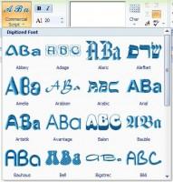 stitch era выбор типа шрифта