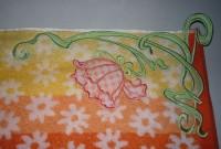 машинная вышивке петельки на махровое полотенце