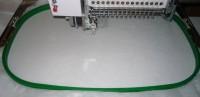 машинная вышивка аппликационной петельки на махровом полотенце шаг 02