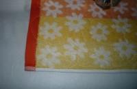 машинная вышивка аппликационной петельки на махровом полотенце шаг 05
