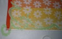 машинная вышивка аппликационной петельки на махровом полотенце шаг 08