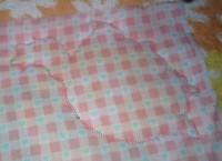 машинная вышивка аппликационной петельки на махровом полотенце шаг 12