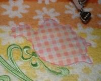 машинная вышивка аппликационной петельки на махровом полотенце шаг 13