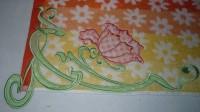 машинная вышивка аппликационной петельки на махровом полотенце шаг 15