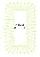 величина внутри буквенного пространства для машинной вышивке мелких букв