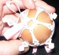 машинная вышивка одежки для пасхального яйца шаг 04