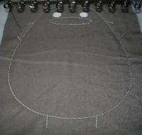 машинная вышивка набивного Тоторо Шаг 07