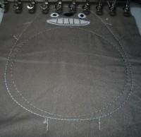 машинная вышивка набивного Тоторо Шаг 09