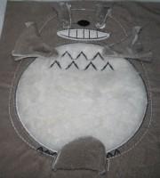 машинная вышивка набивного Тоторо Шаг 12