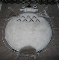 машинная вышивка набивного Тоторо Шаг 13