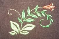машинная вышивка на трикотажном пике 06