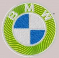 превью дизайна машинной вышивки лого BMW для кожзама 02